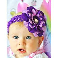 infant hair bows baby hair bow flower clip in lavender and purple hair bow