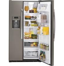 Samsung Counter Depth Refrigerator Side By Side by Ge Slate Side By Side Refrigerator Gzs22dmjes