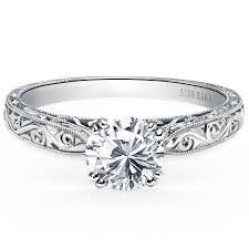 hand engraved rings images Kirk kara quot stella quot round cut engraved diamond engagement ring jpg