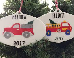 customized photo ornaments boy ornaments etsy