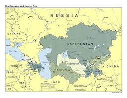 Map Of The Asia by Detailed Political Map Of The Caucasus And Central Asia With