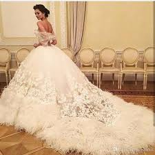 feather wedding dress newest sleeveless luxury tulle feather wedding dresses
