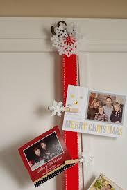 door christmas card holder christmas lights decoration