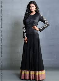 black party wear dresses for girls latest designs