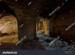 old abandoned tunnel underground wine cellar stock photo 680562910