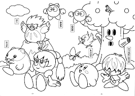 village kirby coloring pages free printable coloring pages