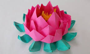Easy Paper Craft For Kids - origami lotus origami lotus an easy paper crafts for kids