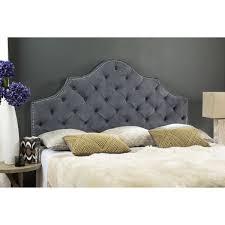 Grey Tufted Headboard Safavieh Arebelle Grey Upholstered Tufted Headboard Silver