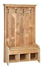 Coat Tree With Bench Reclaimed Wood Entryway Storage Bench Reclaimed Barn Wood Hall