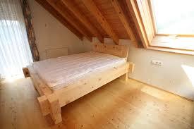 Schlafzimmer Zirbe Zirbe Balkenbett Massiv Schreinerei Burkhardt