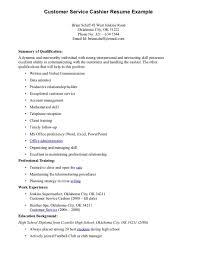 objective for resume cashier example sample resume of cashier