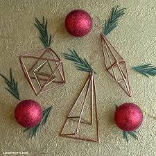 copper geometric ornaments lia griffith