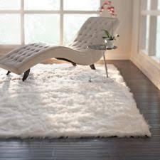 Sheepskin Runner Rug White Modern Area Rugs Ebay