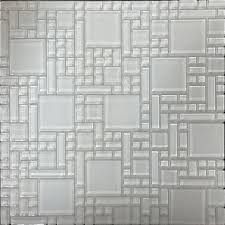 shop instant mosaic white versailles mosaic glass wall tile