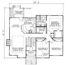open floor ranch house plans plan 59510nd open floor plan three bedroom design split level
