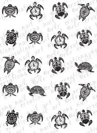 20 nail decals tribal turtles water slide nail decals nail
