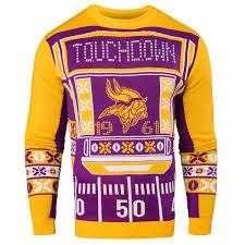 raiders light up christmas sweater men s minnesota vikings klew purple light up ugly sweater