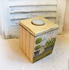 buy box candle holder country style decoupage on livemaster online