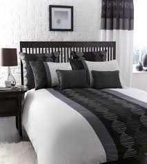 bedrooms small monochrome bedroom with white bed and black
