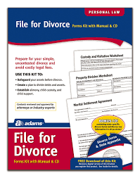 amazon com adams divorce kit forms and instructions includes