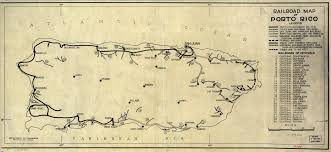 Map Of Puerto Rico Puerto Rico Map Railroads La Chuleta Congelá U0027