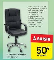 chaise bureau carrefour carrefour promotion fauteuil de direction produit maison