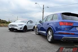 Car Interior Noise Comparison Fast Suv Comparison Tesla Model X P100d Vs Audi Sq7 Review