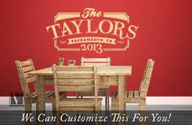 Retro Room Decor by Personalized Family Name Year And Location The Taylors Retro