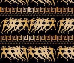 Greek Vase Design Ancient Greek Olympics Wallpaper Kociara Spoonflower
