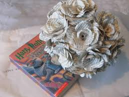 Paper Roses 12 X Harry Potter Book Page Paper Flower Roses Handmade Flowers