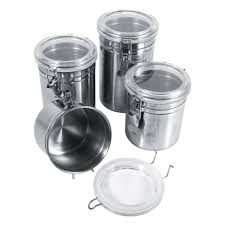 popular kitchen food storage canisters buy cheap kitchen food 4 sizes stainless steel kitchen food storage container bottle sugar tea coffee beans canisters snack cans