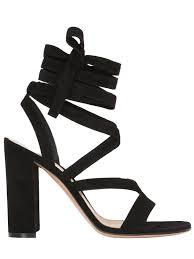 gianvito rossi 100mm lace up suede sandals black qkxbq0s1 women