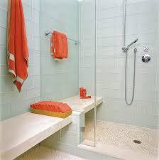 aqua glass tile mosaic headboard bathroom contemporary with tile
