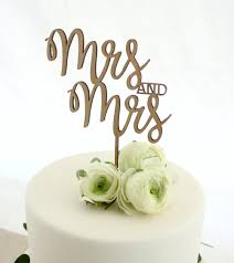 mrs and mrs cake topper mrs and mrs cake topper one happy leaf