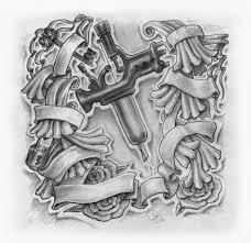 tattoo gun sketch tattoo gun drawing just finished this custom order love i zara