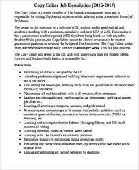 editor job description sample 10 examples in word pdf