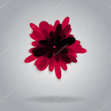 grey wallpaper with red flowers vector isolated red flower grey background shadow simple flat