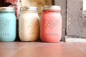 today on the bridal boutique shabby chic painted mason jar