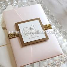 wedding invitation pocket envelopes glitter pocket fold wedding invitations cards with lining