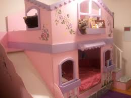 my girls bunkbeds two double size beds with slide u0026 stairs