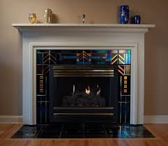 Paint Tile Fireplace by Best 20 Glass Tile Fireplace Ideas On Pinterest Beach Bathrooms