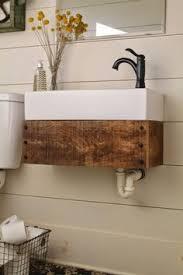 Diy Basement Bathroom Build A Reclaimed Wood Floating Vanity Meets Carpenter