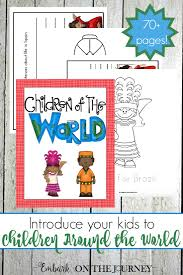 children around the world writing pack