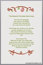 christmas open house invitation food gifts pinterest open