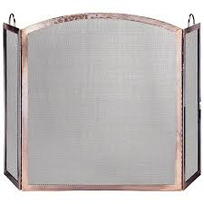 uttermost tate tempered glass fireplace screen fireplace screens