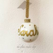 christmas ball ornament personalized with name custom
