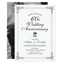 60th wedding anniversary invitations simple 60th birthday gifts t shirts posters other gift