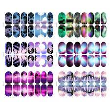 Esszimmerst Le M El H Fner 10x Fluoreszierend Wasser Nailart Tattoo Sticker Nagel French Tips