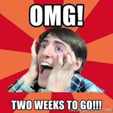 Meme Generator Two Pictures - omg two weeks to go super excited meme generator