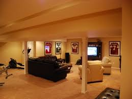 Inexpensive Leather Sofa Basement Beautiful Inexpensive Basement Finishing Ideas With